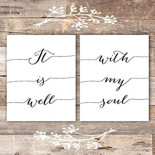 It Is Well With My Soul Art Prints (Set of 2) - Unframed - 8x10 - Dream Big Printables