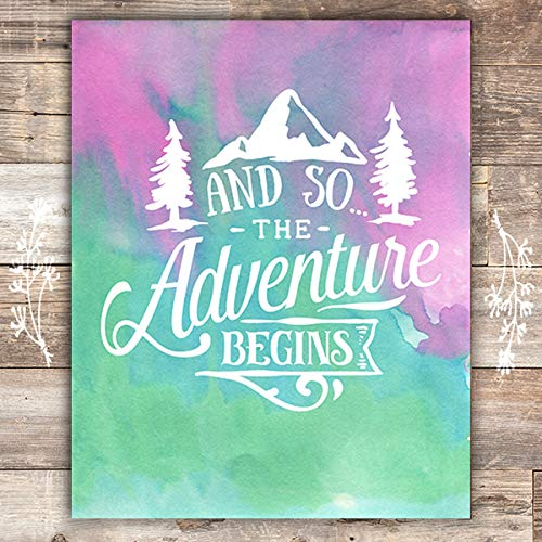 And So The Adventure Begins - Unframed - 8x10 - Dream Big Printables