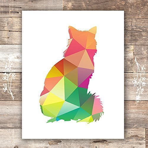 Cat Art Print - Unframed - 8x10 - Dream Big Printables