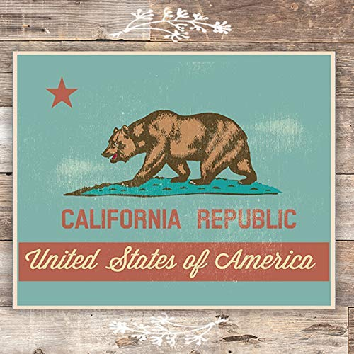 California Republic Art Print - Unframed - 8x10 - Dream Big Printables