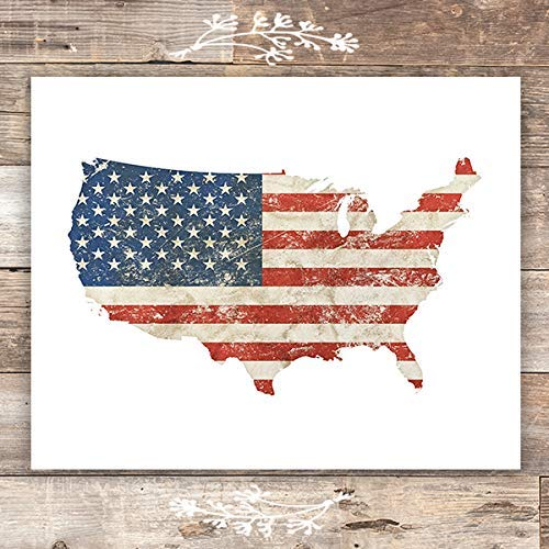 American Flag Wall Art Print - Unframed - 8x10 - Dream Big Printables
