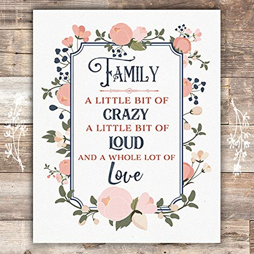 Family In A Nutshell Art Print - Unframed - 8x10 - Dream Big Printables