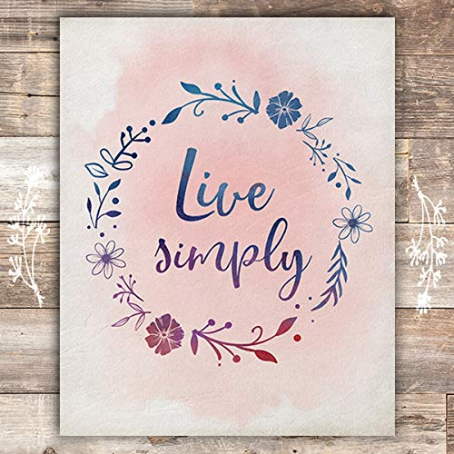 Live Simply Art Print - Unframed - 8x10 - Dream Big Printables