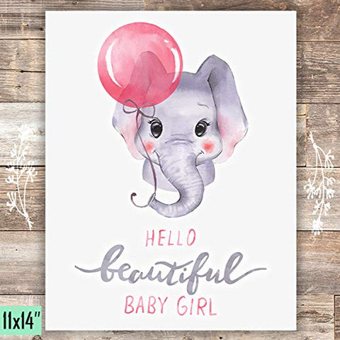 Girls Nursery Decor Art Print - Unframed - 11x14