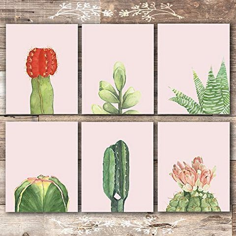Cactus Wall Art (Set of 6) - Unframed - 8x10s | Botanical Decor