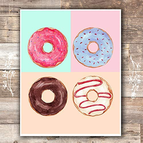 Donut Wall Art Print - Unframed - 8x10 | Kitchen Wall Decor - Dream Big Printables