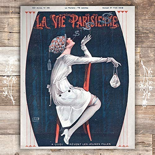 Dreaming La Parisienne Cover French Art Print - Unframed - 8x10 - Dream Big Printables
