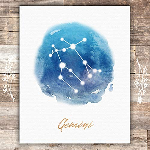 Watercolor Constellation - Gemini - Art Print - 8x10 - Dream Big Printables
