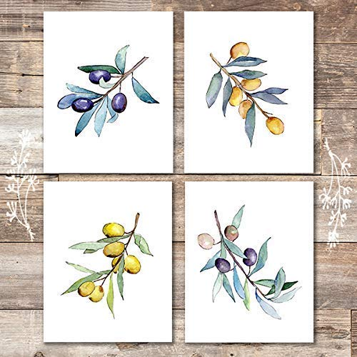 Olive Branches Art Prints (Set of 4) - Unframed - 8x10s - Dream Big Printables