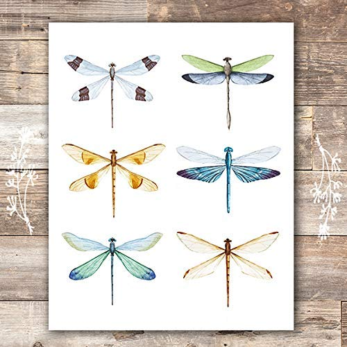 Dragonfly Wall Art Print - Unframed - 8x10 - Dream Big Printables