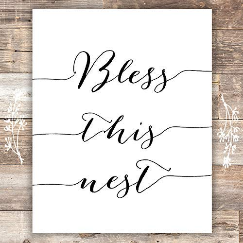 Bless this Nest Art Print - Unframed - 8x10 | Funny Home Decor - Dream Big Printables