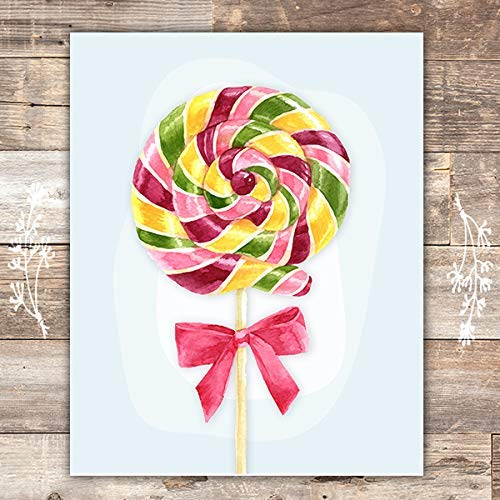 Lollipop Wall Art Print - Unframed - 8x10 - Dream Big Printables
