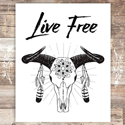 Live Free Inspirational Art Print - Unframed - 8x10 - Dream Big Printables