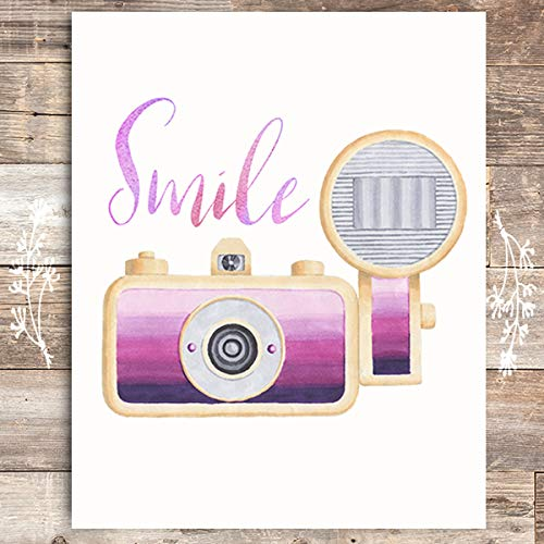 Smile Camera Art Print - Unframed - 8x10 - Dream Big Printables
