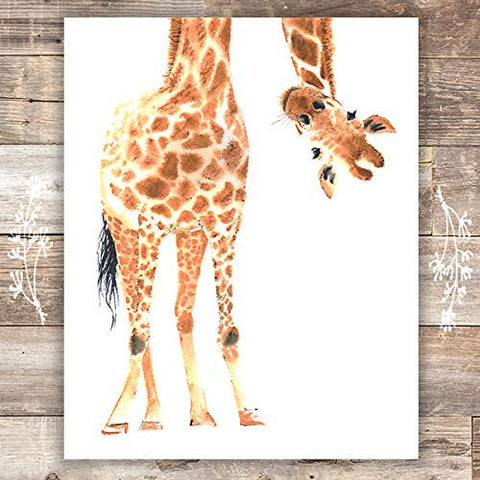 Giraffe Wall Art Print - Unframed - 8x10 - Dream Big Printables