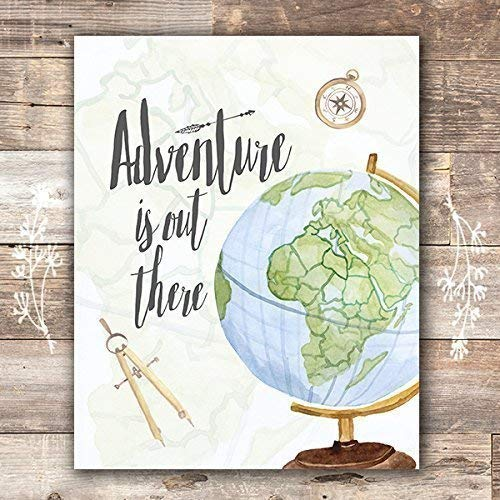 Adventure Is Out There Art Print - Unframed - 8x10 - Dream Big Printables