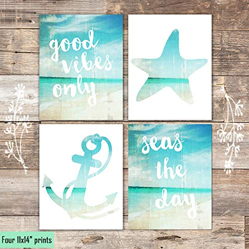 Good Vibes Only (Set of 4) - Unframed - 11x14s - Dream Big Printables