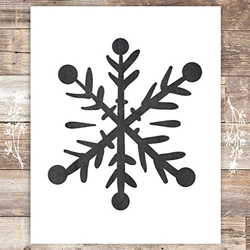 Snowflake Christmas Art Print - Unframed - 8x10 - Dream Big Printables