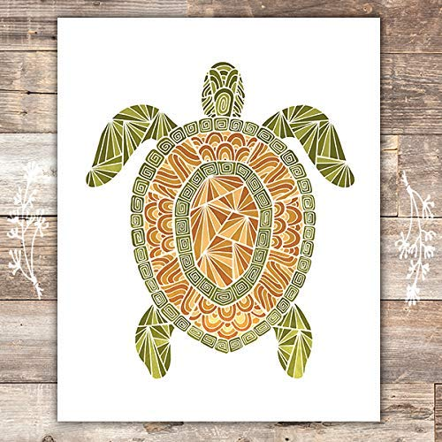 Sea Turtle Art Print - Unframed - 8x10 | Beach Wall Art - Dream Big Printables