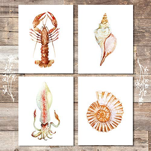 Beach Wall Decor Art Prints (Set of 4) - Unframed - 8x10s - Dream Big Printables