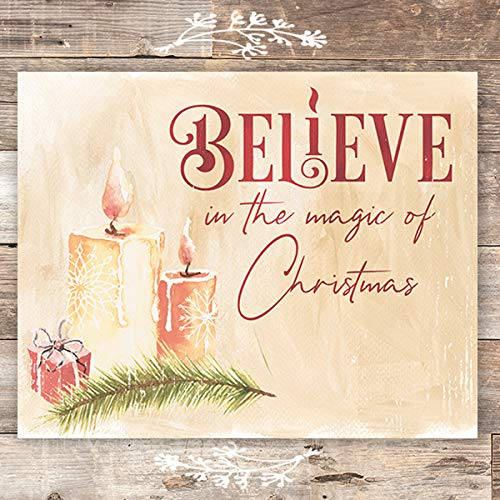 Believe In The Magic Of Christmas Candles Art Print - Unframed - 8x10 - Dream Big Printables
