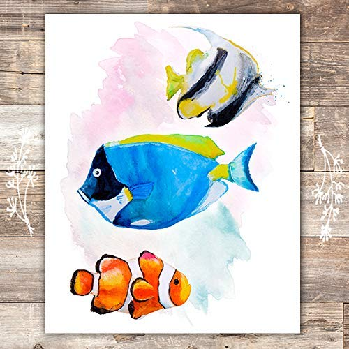 Tropical Fish Art Print - Unframed - 8x10 - Dream Big Printables