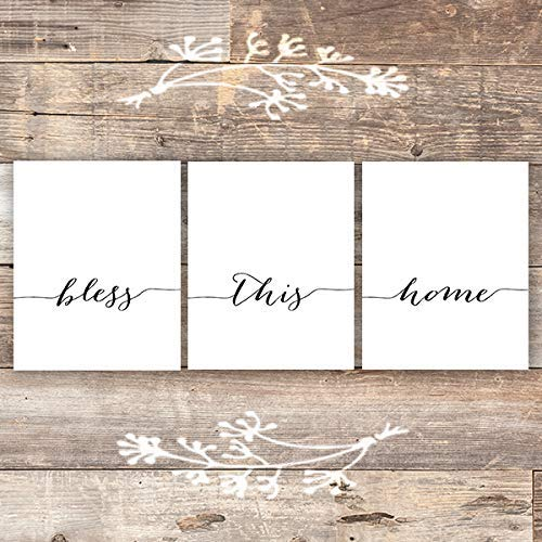 Bless This Home Art Prints (Set of 3) - Unframed - 8x10s - Dream Big Printables