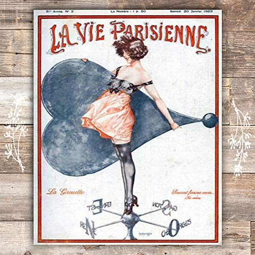 The Weathervane La Parisienne Cover French Art Print - Unframed - 8x10 - Dream Big Printables