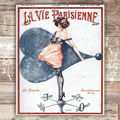 The Weathervane La Parisienne Cover French Art Print - Unframed - 8x10