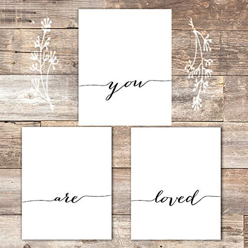 You Are Loved Art Prints (Set of 3) - Unframed - 8x10s - Dream Big Printables