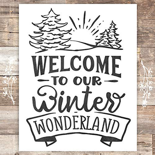 Welcome To Our Winter Wonderland Christmas Art Print - Unframed - 8x10 - Dream Big Printables