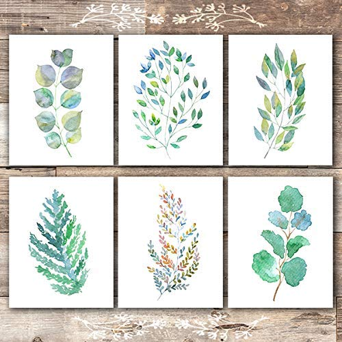 Colorful Botanical Watercolors (Set of 6) - Unframed - 8x10s - Dream Big Printables