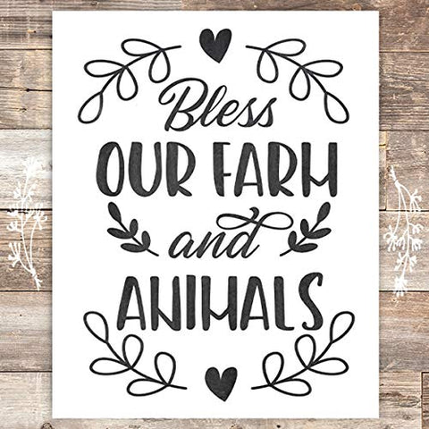 Bless Our Farm and Animals - Unframed - 8x10s - Dream Big Printables
