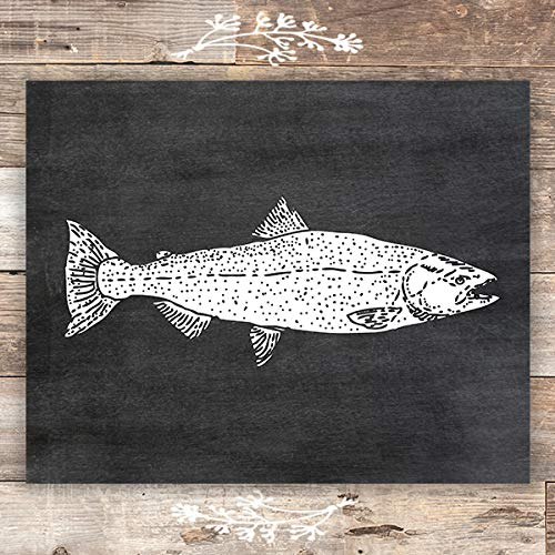 Rainbow Trout Chalkboard Art Print - Unframed - 8x10 - Dream Big Printables