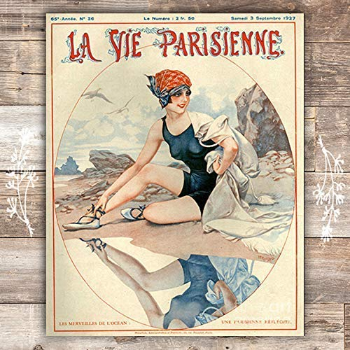 The Wonders Of The Ocean La Parisienne Cover French Art Print - Unframed - 8x10 - Dream Big Printables