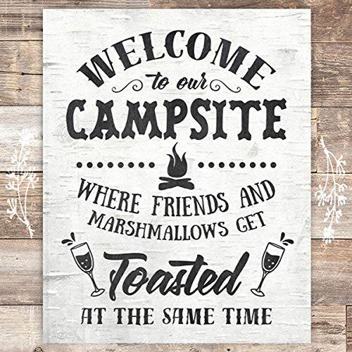 Welcome To Our Campsite Art Print - Unframed - 8x10 - Dream Big Printables