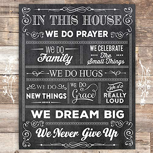 House of Prayer Art Print - Unframed - 8x10 - Dream Big Printables