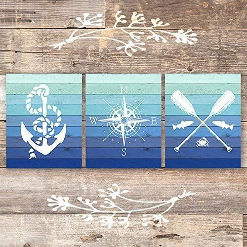 Nautical Art Prints (Set of 3) - Unframed - 8x10s - Dream Big Printables