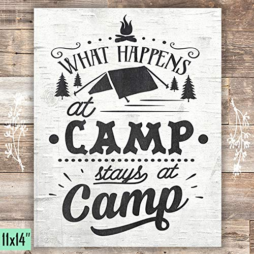 What Happens At Camp Stays At Camp - Unframed - 11x14s - Dream Big Printables