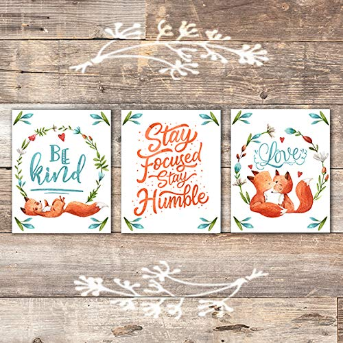 Fox Quotes Art Prints (Set of 3) - Unframed - 8x10s - Dream Big Printables