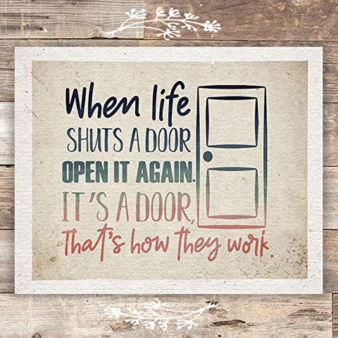 When Life Shuts A Door Art Print - Unframed - 8x10 - Dream Big Printables