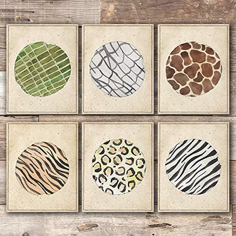 Animal Skins Art Prints (Set of 6) - Unframed - 8x10s - Dream Big Printables