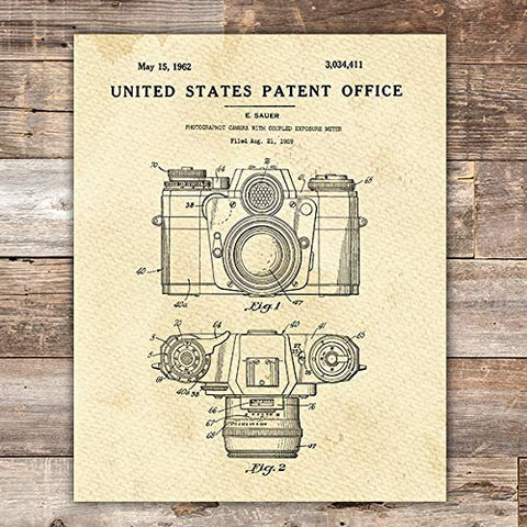 Camera Patent Print Wall Art - Unframed - 8x10 - Dream Big Printables