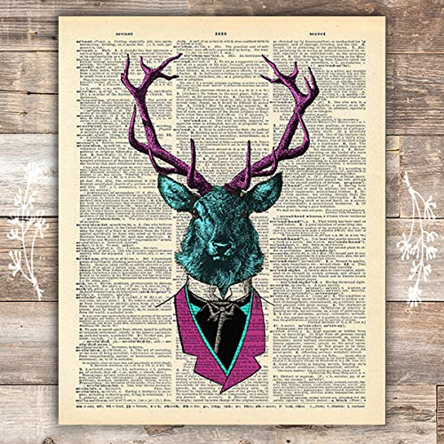 Deer In Suit Vintage Art Print - Unframed - 8x10 - Dream Big Printables