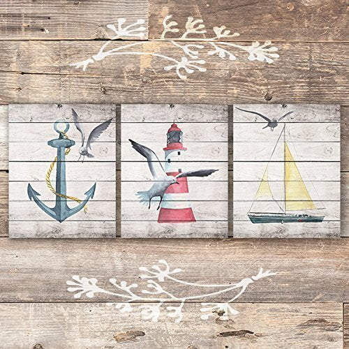 Beach Wall Decor Art Prints (Set of 3) - 8x10s - Dream Big Printables