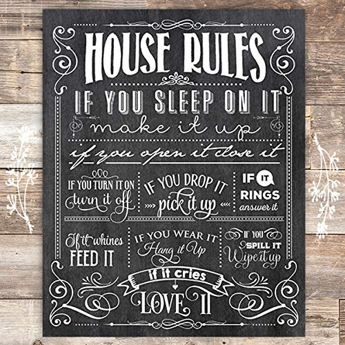 House Rules Art Print - Unframed - 8x10 - Dream Big Printables