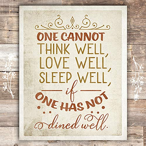 One Must Dine Well - Art Print - Unframed - 8x10 - Dream Big Printables
