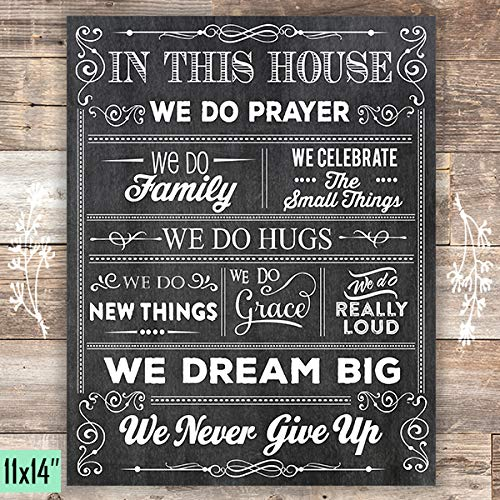 House Of Prayer Art Print - Unframed - 11x14 - Dream Big Printables