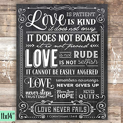 Love is Patient Art Print - Unframed - 11x14 - Dream Big Printables