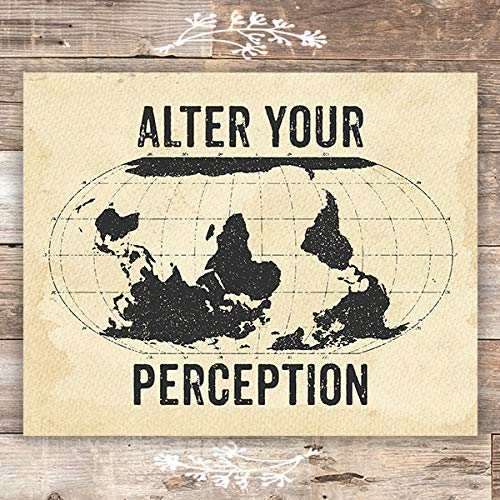 Alter Your Perception Travel Art Print - Unframed - 8x10 - Dream Big Printables